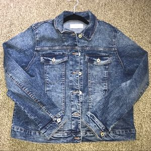 Mango Acid Washed Denim Jacket